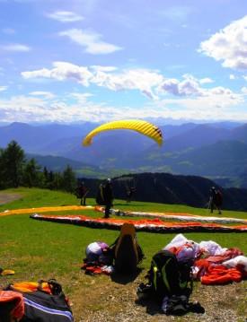 Tandem Paragliding Flying